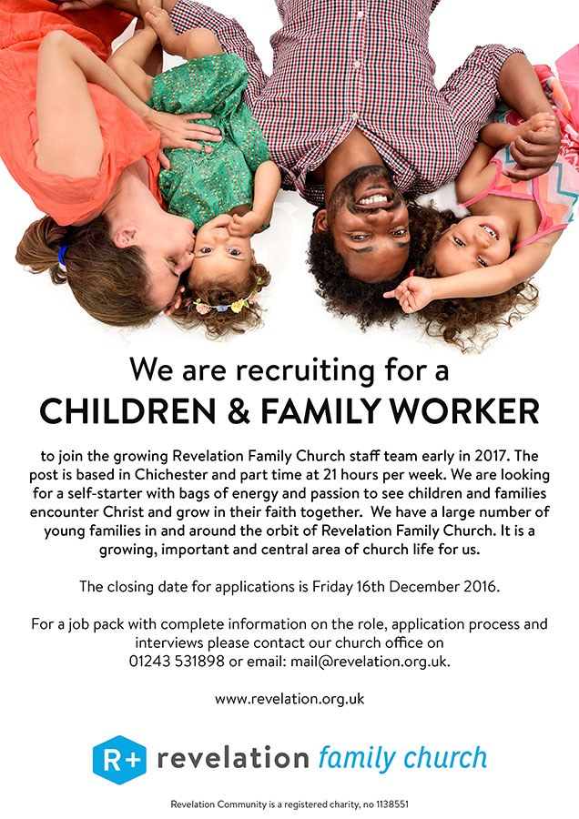 We are looking for a Children and Family Worker! – Revelation Family